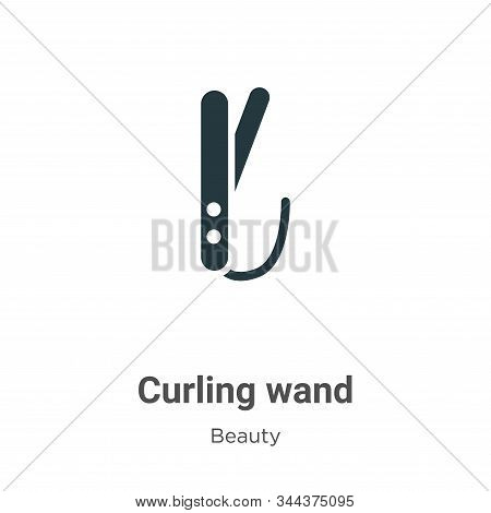 Curling wand icon isolated on white background from beauty collection. Curling wand icon trendy and
