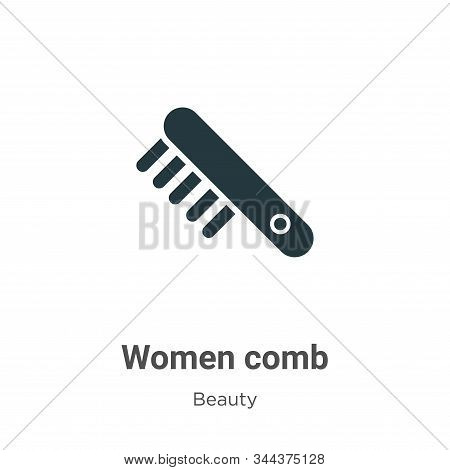 Women Comb Vector Icon On White Background. Flat Vector Women Comb Icon Symbol Sign From Modern Beau