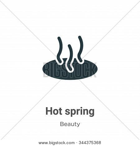 Hot spring icon isolated on white background from beauty collection. Hot spring icon trendy and mode