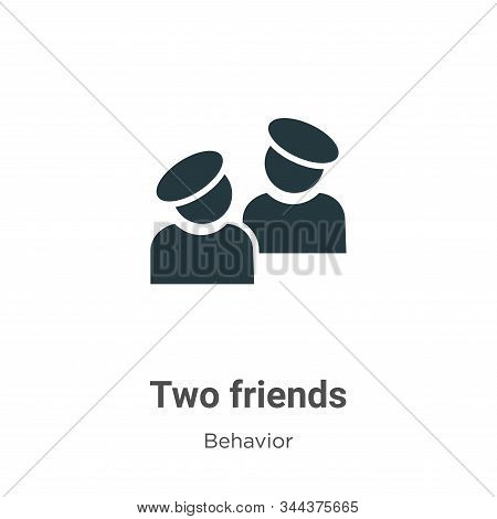 Two friends icon isolated on white background from behavior collection. Two friends icon trendy and
