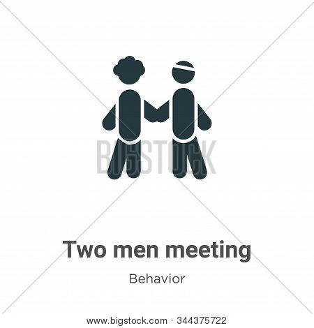 Two men meeting icon isolated on white background from behavior collection. Two men meeting icon tre