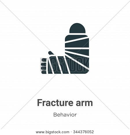 Fracture arm icon isolated on white background from behavior collection. Fracture arm icon trendy an