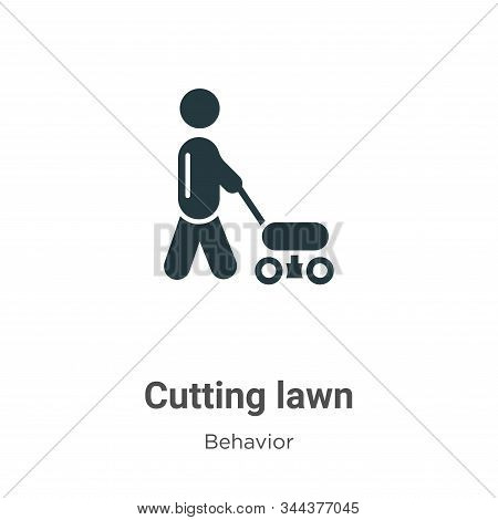 Cutting lawn icon isolated on white background from behavior collection. Cutting lawn icon trendy an