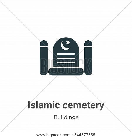 Islamic cemetery icon isolated on white background from buildings collection. Islamic cemetery icon
