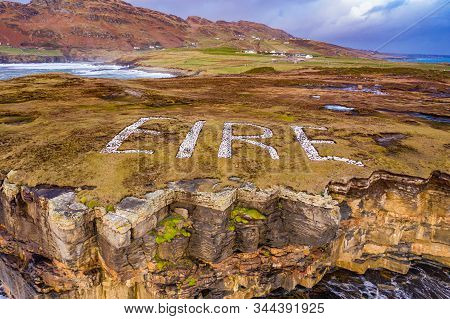 Eire Marking At Muckross Head In County Donegal - Ireland