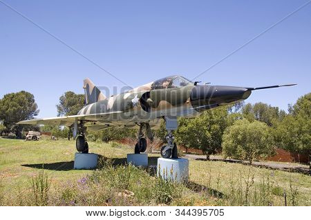 Bloemfontein, South Africa, November 22, 2006: A Mirage F1 Fighter Aircraft On Display At Fort Bloem