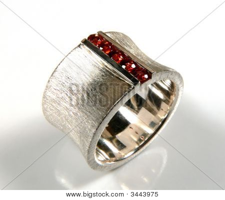 Ring With Red Garnets
