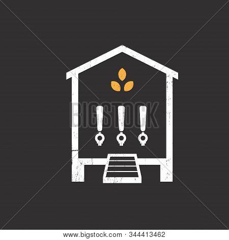 Brew Coop Self-pour Beer Bar & Restaurant Logo Vector Illustration