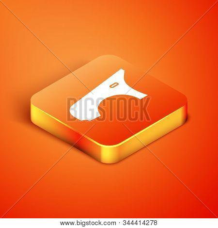 Isometric Car Fender Icon Isolated On Orange Background. Vector Illustration