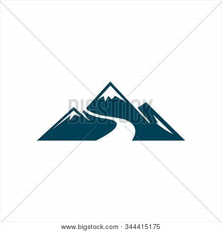 Mountains With River Logo Vector Template Premium Designs