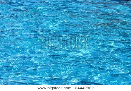 blue water