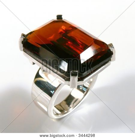 Ring With Red Garnet