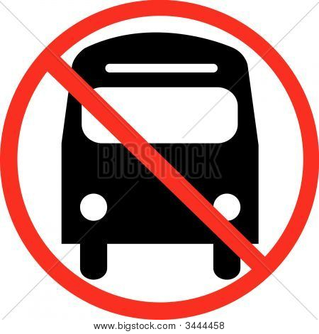 Bus With Not Allowed Symbol.
