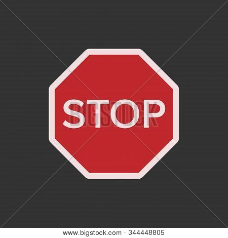 Sign Stop. Red Sign Stop, Vector Sign