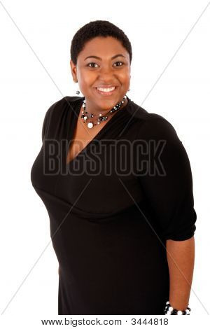 Cheerful Young African American Woman Portrait