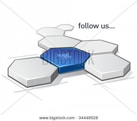 follow us vector icon