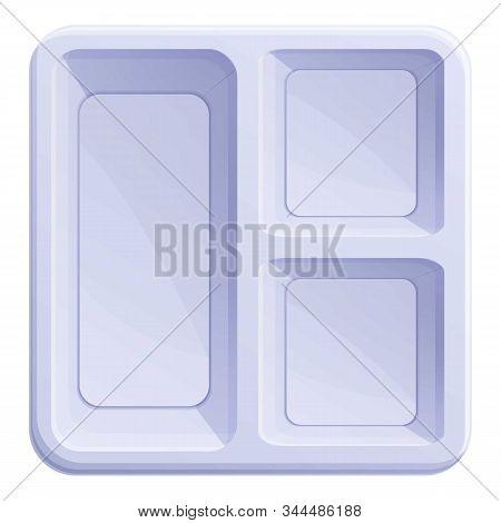 Food Plastic Tableware Icon. Cartoon Of Food Plastic Tableware Vector Icon For Web Design Isolated O