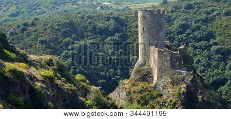 One Of The Four Castles At Lastours  Languedoc-roussillon France