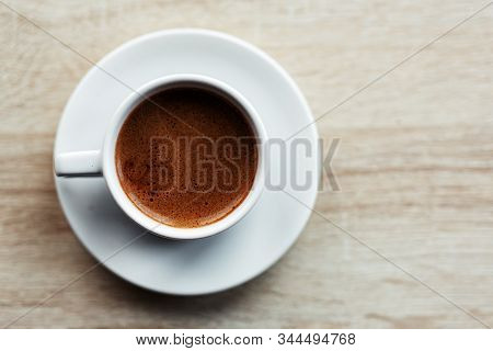 Espresso Coffee Served In Cup