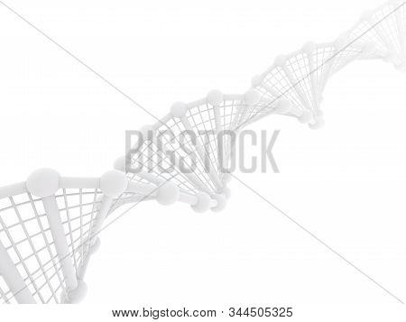 Dna Chain. Abstract Scientific Background. Beautiful Illustraion. Biotechnology, Biochemistry, Genet