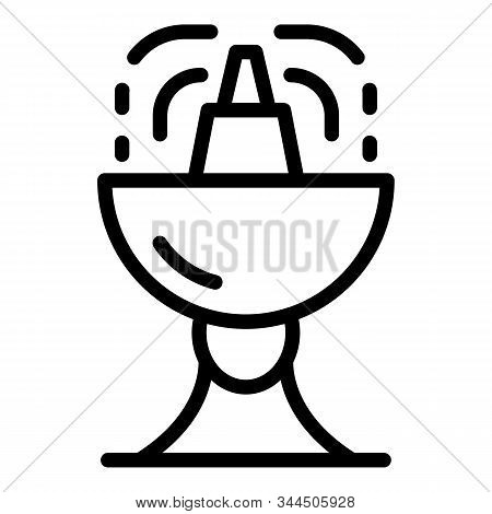 Water Drink Basin Icon. Outline Water Drink Basin Vector Icon For Web Design Isolated On White Backg