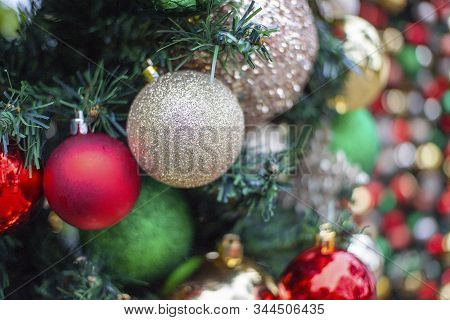 New Year's Baubles For Christmas Trees