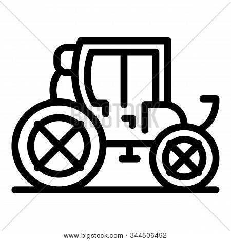 Carriage Transport Icon. Outline Carriage Transport Vector Icon For Web Design Isolated On White Bac