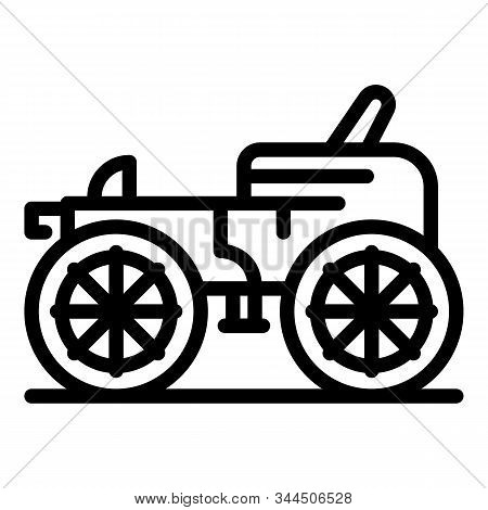 Classic Carriage Icon. Outline Classic Carriage Vector Icon For Web Design Isolated On White Backgro