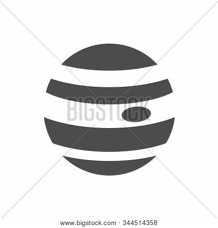 Jupiter Planet Vector Icon Isolated On White Background. Jupiter Flat Icon For Web, Mobile And User
