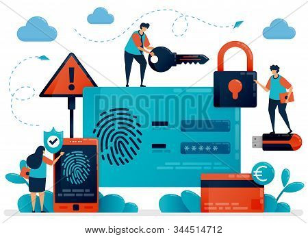 Fingerprint Recognition Technology For User Id Security. Finger Touch Scanner App To Secure Personal