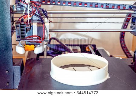 3d Printer.  Electronic Three Dimensional Plastic Printer. Homemade