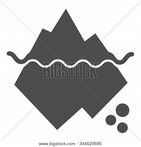 Iceberg In Water Solid Icon. Berg Vector Illustration Isolated On White. Antarctic Landscape Glyph S