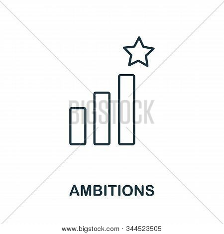 Ambitions Icon. Line Style Symbol From Productivity Icon Collection. Ambitions Creative Element For