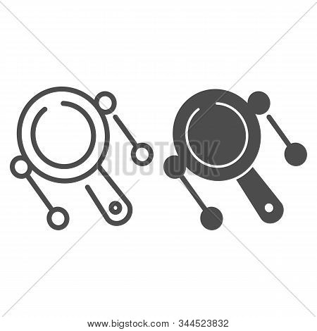 Rattle Drum Line And Glyph Icon. Mexican Pellet Drum Vector Illustration Isolated On White. Musical