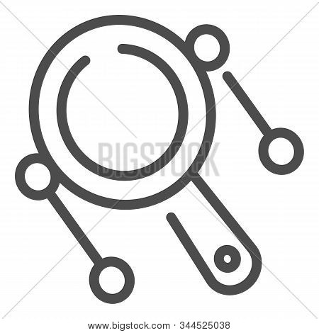 Rattle Drum Line Icon. Mexican Pellet Drum Vector Illustration Isolated On White. Musical Instrument
