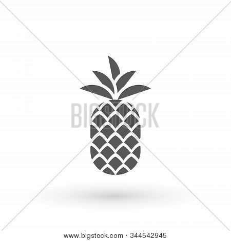 Pineapple Icon Minimal Sign Vector Design. Pineapple Icon. Trendy Tropical Element. Vector Graphics.