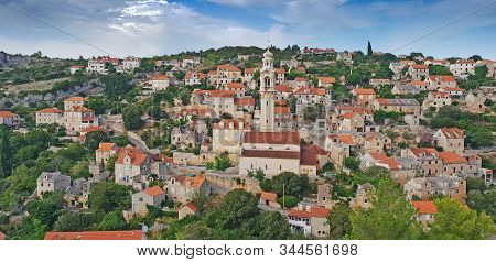 Historic Stone Village Of Lozisca On Brac Island, Dalmatia, Croatia