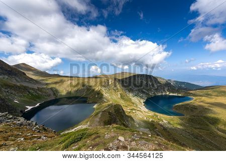 Panoramic Landscape Of The Seven Rila Lakes, Rila Mountain, Bulgaria