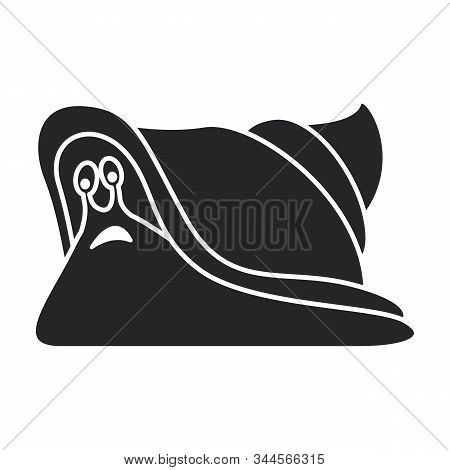 Snail Vector Icon.black Vector Icon Isolated On White Background Snail .