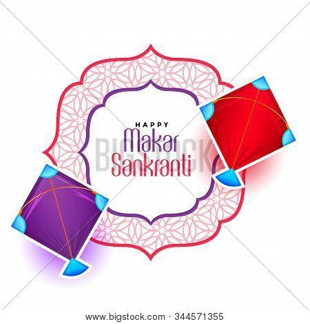 Happy Makar Sankranti Festival Of Kite Background Design