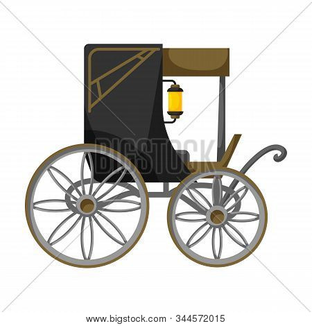 Vintage Carriage Vector Icon.cartoon Vector Icon Vintage Carriage Isolated On White Background .