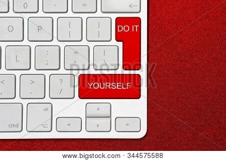 Computer Keyboard With Word Do It Yourself. Business Concept For Motivation For Doing Something Beli