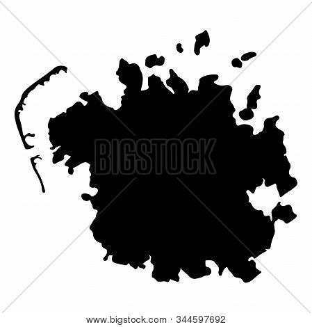 Federated States Of Micronesia Map Silhouette Vector Illustration Eps 10.