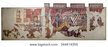 Barcelona, Spain - Dec 26th 2019: Conquest Of Majorca In 1229 By King James I Of Aragon To Almohads.