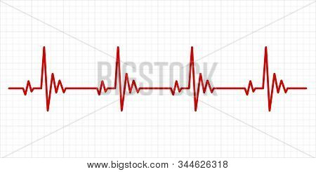Heartbeat Electrocardiogram. Hospital Test Electrocardiograms Paper, Medical Cardio Arrhythmia Monit