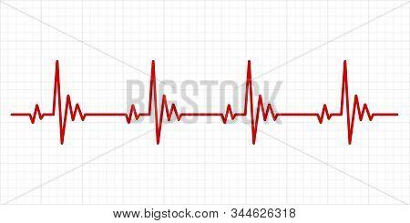 Heartbeat Electrocardiogram. Hospital Test Electrocardiograms Paper, Medical Cardio Arrhythmia Monit