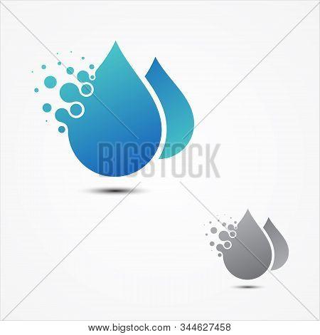 Simple Vector Droplet Pixel Design In Flat Style. Pixel Technology Droplet Sign Symbol. Vector Illus