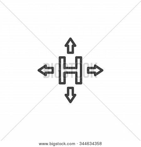 Hermetic Packaging Sign Line Icon. Linear Style Sign For Mobile Concept And Web Design. Cargo Logist
