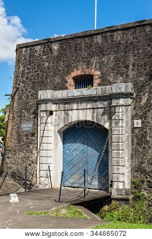 Gate To The Fort Saint Louis In Fort-de-france, France's Caribbean Overseas Department Of Martinique