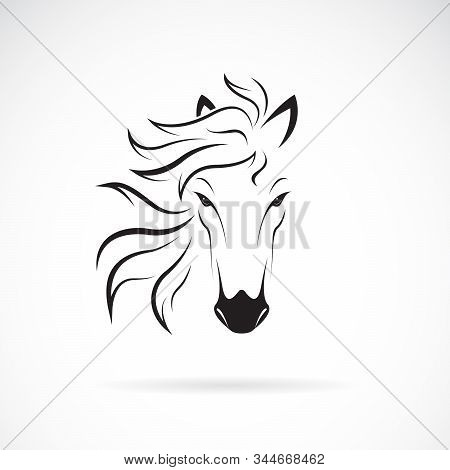 Vector Of A Horse Head Design On White Background. Wild Animals. Horse Head Icon Or Logo. Easy Edita
